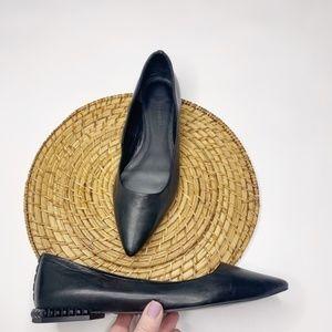 Rebecca Minkoff Fallon Leather Studded Heel Flat 9